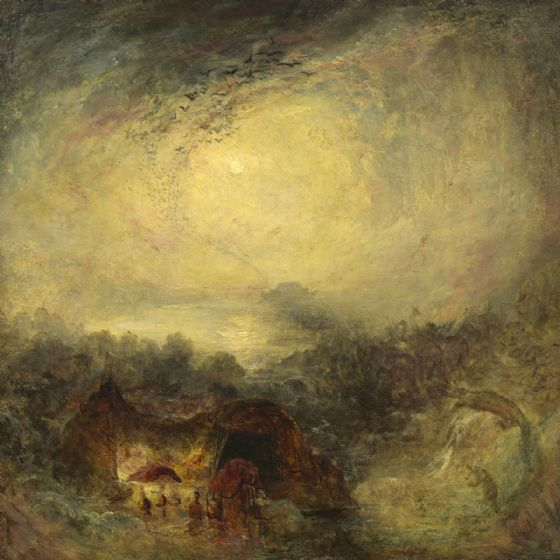 Turner, Joseph Mallord William: The Evening of the Deluge. Fine Art Print/Poster (003544)